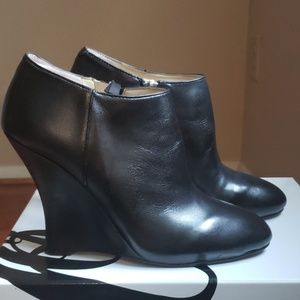 Nine West Wedges, Black Leather